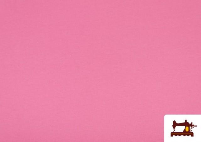Venta online de Tela de Punto de Camiseta de Colores Nueva Temporada. color Fucsia
