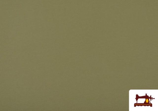 Comprar Tela de Punto de Camiseta de Colores Nueva Temporada. color Caqui