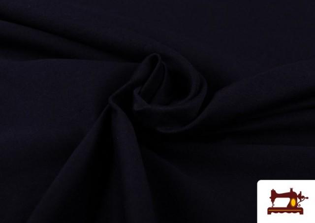 Tela de Punto de Camiseta de Colores Nueva Temporada. color Azul Marino