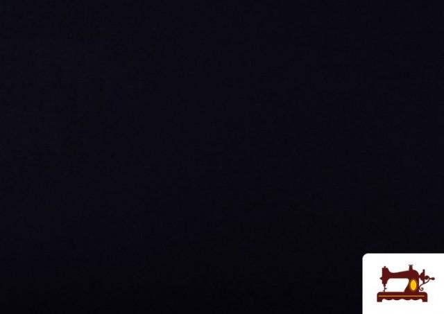 Tela de Punto de Camiseta de Colores Nueva Temporada. color Negro