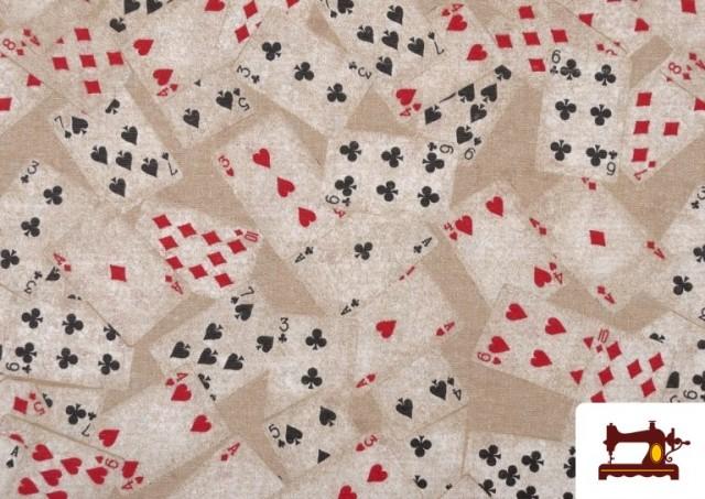 Comprar Tela de Loneta Estampada con Cartas de Poker