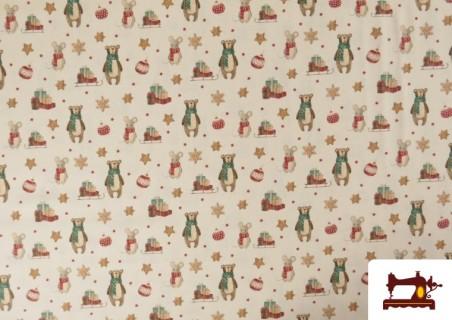 Comprar Tela de Navidad Estampado Ositos y Ratones