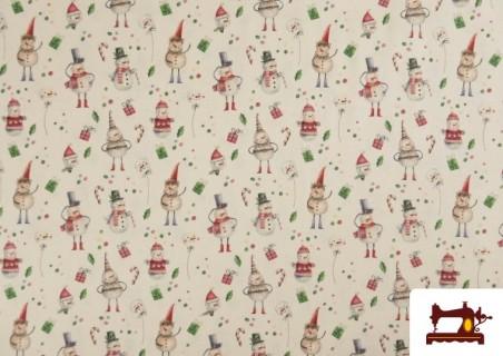 Comprar Tela de Algodón de Navidad Muñecos de Nieve
