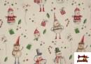 Comprar online Tela de Algodón de Navidad Muñecos de Nieve