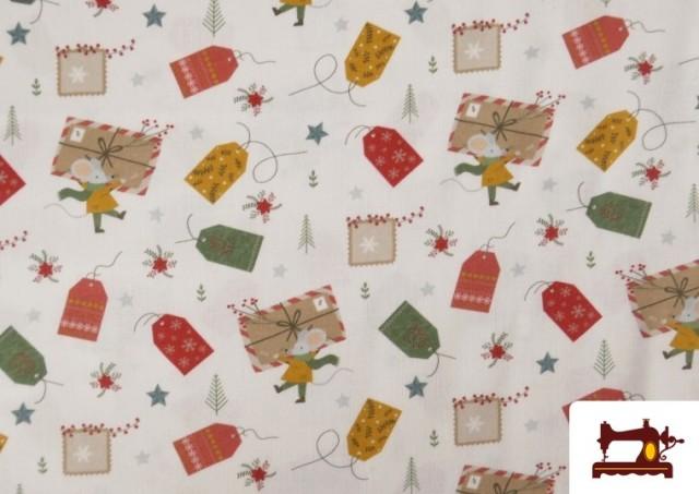 Venta de Tela de Algodón de Cartas Deseos de Navidad
