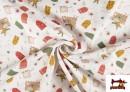 Venta online de Tela de Algodón de Cartas Deseos de Navidad