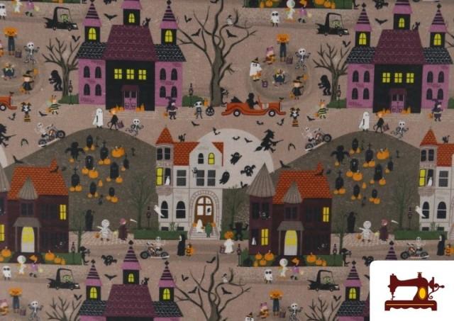 Venta de Tela de Algodón Noche de Halloween