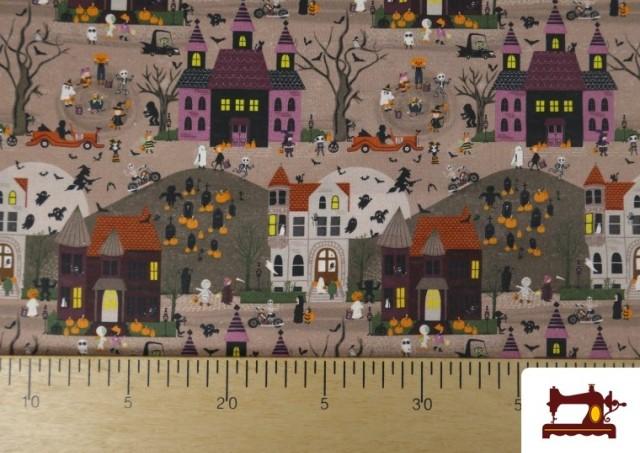 Venta online de Tela de Algodón Noche de Halloween