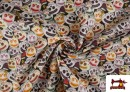 Venta online de Tela de Algodón Halloween Calabazas con Cara