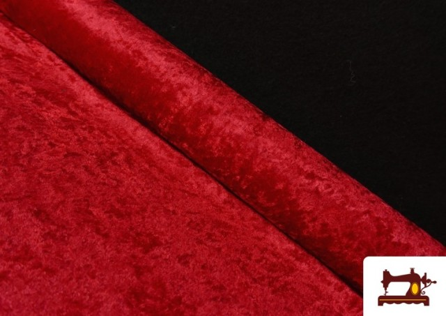 Tela de Terciopelo Económico Martele color Rojo