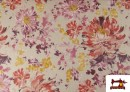 Comprar Loneta de Flores color Pastel Peonias