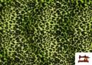 Venta de Tela de pelo de leopardo de colores color Pistacho