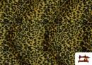 Comprar Tela de pelo de leopardo de colores color Amarillo