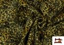 Venta de Tela de pelo de leopardo de colores color Amarillo