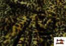 Comprar online Tela de pelo de leopardo de colores color Amarillo
