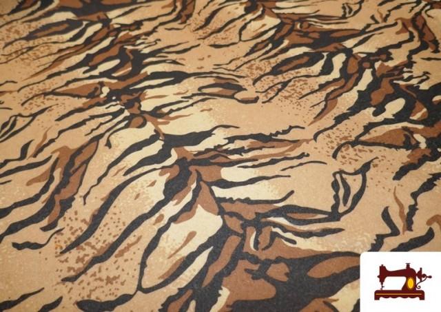 Venta online de Tela de Fieltro Estampado y Color Fantasía color Marrón