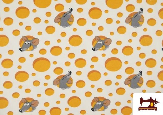 Comprar online Punto de Camiseta Estampado Ratones y Queso