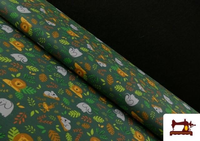 Punto de Camiseta Infantil Estampado Selva Verde