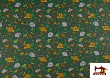 Comprar Punto de Camiseta Infantil Estampado Selva Verde