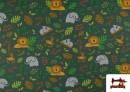Venta de Punto de Camiseta Infantil Estampado Selva Verde