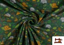 Comprar online Punto de Camiseta Infantil Estampado Selva Verde