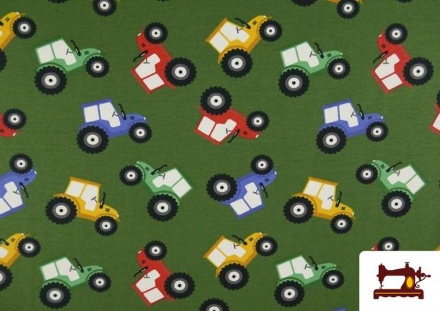 Venta de Punto de Camiseta Infantil Estampado Tractores