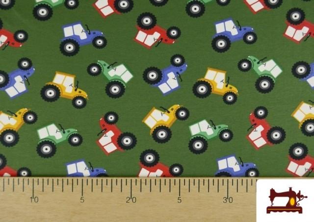Comprar online Punto de Camiseta Infantil Estampado Tractores