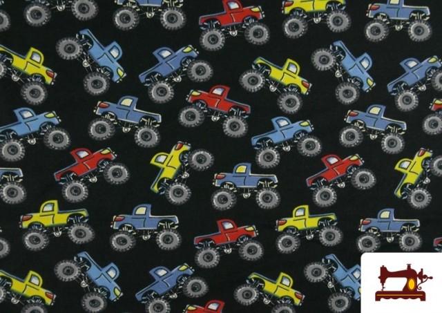 Venta de Punto de Camiseta Estampado Monster Trucks