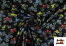 Venta online de Punto de Camiseta Estampado Monster Trucks