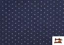 Venta de Tela Tejana Estampado Geométrico Triangulitos color Azul Marino