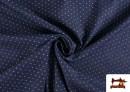 Venta online de Tela Tejana Estampado Geométrico Triangulitos color Azul Marino