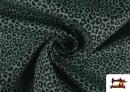 Venta online de Tela de Algodón Estampado Leopardo de colores color Verde mar