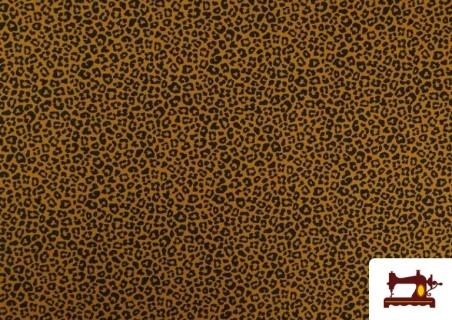 Tela de Algodón Estampado Leopardo de colores color Mostaza