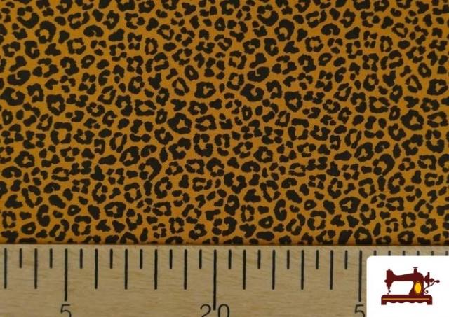 Venta de Tela de Algodón Estampado Leopardo de colores color Mostaza