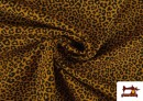 Comprar online Tela de Algodón Estampado Leopardo de colores color Mostaza