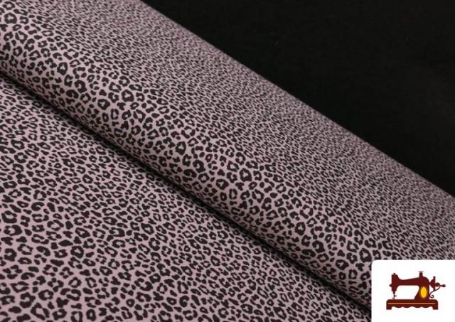 Venta de Tela de Algodón Estampado Leopardo de colores color Rosa pálido