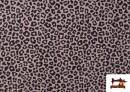 Venta online de Tela de Algodón Estampado Leopardo de colores color Rosa pálido