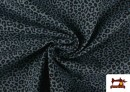 Venta online de Tela de Algodón Estampado Leopardo de colores color Azul Marino