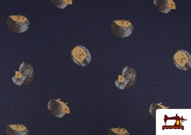 Venta de Punto de Camiseta Estampado Erizos Infantil