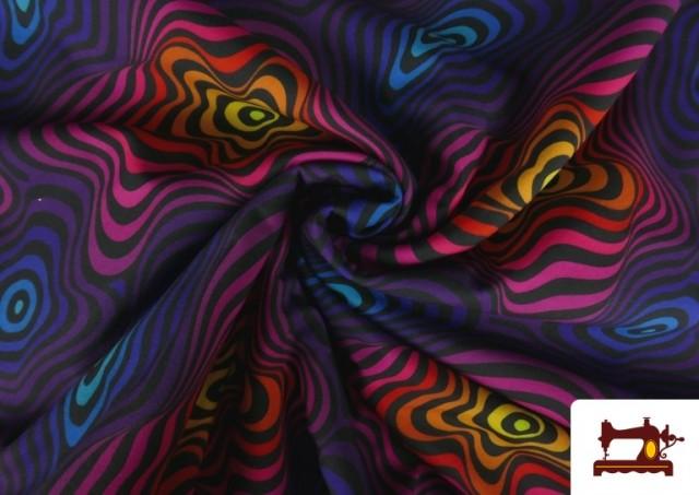 Venta online de Softshell estampado Psicodélico de Colores