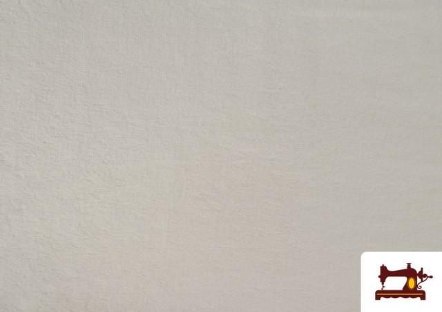 Venta de Tela de Rizo de Bambú de Colores Pastel color Blanco