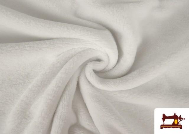 Comprar online Tela de Rizo de Bambú de Colores Pastel color Blanco