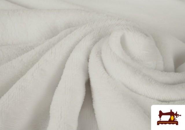 Venta online de Tela de Rizo de Bambú de Colores Pastel color Blanco