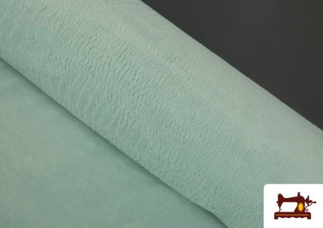 Venta de Tela de Rizo de Bambú de Colores Pastel color Verde mint