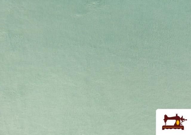 Comprar online Tela de Rizo de Bambú de Colores Pastel color Verde mint