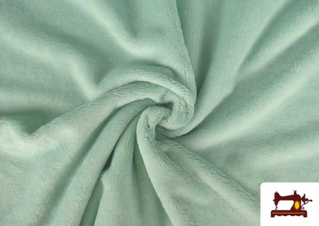 Venta online de Tela de Rizo de Bambú de Colores Pastel color Verde mint