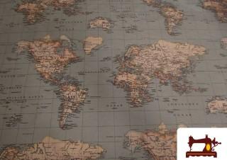 Comprar tela con Mapas del Mundo