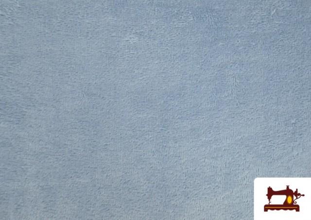 Tela de Rizo de Bambú de Colores Pastel color Azul