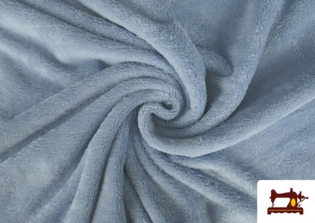 Comprar Tela de Rizo de Bambú de Colores Pastel color Azul