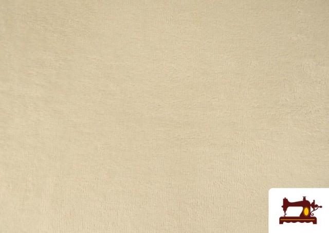 Venta online de Tela de Rizo de Bambú de Colores Pastel color Beige